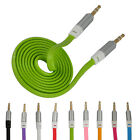 Thick Flat Noodle 3.5mm Stereo Audio Male Aux Cable PC/iPhone/iPad/MP3 9 Colors
