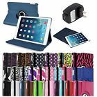 360 Rotating Magnetic PU Leather Case+Charger For Apple iPad Air 5 5th Gen 2013