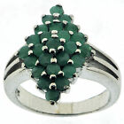 .925 Sterling Silver 1.25 Ct Emerald Ring