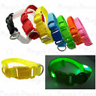 LED Dog Collar Pet Night Walk Safety Collar Flashing Light Up Collar 8 color LOT