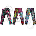 Monster High Printed Childs Girls Pants Leggings Trousers Kids Size 6-16 Clothes