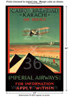 Imperial Airways #1 - Vintage Air Travel Poster [6 sizes, matte+glossy avail]
