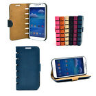 Card Holder Leather Wallet Weave Texture Phone Case Cover for Samsung Galaxy S4