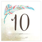 Personalized Feather Whimsy Square Wedding Table Numbers