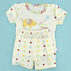 New 3 Sizes Baby Infant Summer Elepant Pattern Suit T-Shirt + Pants/Toddler S0BZ