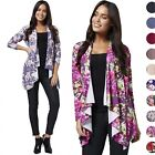 Glamour Empire Women's Stretchy Waterfall Blazer Jersey Cardigan Top UK10-18 320