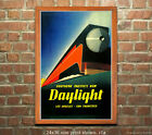 Southern Pacific RR Daylight Express Travel Poster [6 sizes, matte+glossy avail]
