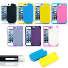 For Apple iPhone 5C Heavy Duty Hybrid Rugged Hard Case Cover & Screen Protector