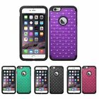 For iPhone 6 6S Plus 5.5 Rubberized Hard Diamond Pattern Silicone Cover Case