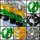 "38x26x14mm Crystal Faceted Nugget Beads 15"" , pick your color"