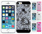 Apple iPhone 5 5S TPU Four Leaf Clover Candy Gel Hard Skin Cover +Screen Guard