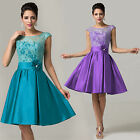 2015 Sexy Short Vintage 50s Rockabilly Bridesmaid Short Tea Dresses Evening Gown
