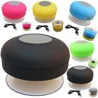 WATERPROOF WIRELESS BLUETOOTH HANDS-FREE SUCTION SPEAKER FOR LATEST PHONES