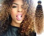 "100% Brazilian Remy Curly Human Hair Extensions Unprocessed 12""-30"" 50g 1B33#27#"