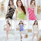 Women's Sexy Fishnet Lingerie Body Stocking Nightwear Underwear Mini Dress E0Xc