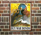 Angry Uncle Sam - Buy War Bonds - Reproduction US WWII Propaganda Poster ww2