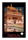 Visit India #2 - Reproduction Vintage Travel Poster