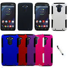 For Motorola Droid Turbo Case Apex Double Layer Hard Soft Cover + Stylus