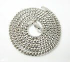 """14K White Gold Miami Cuban Italy Curb Mens Ladies Chain Necklace 3.2mm 18-24"""""""