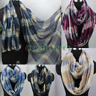 Fashion Women Girl's Plaids Print Long Scarf/Infinity 2-Loop Cowl Circle Scarf