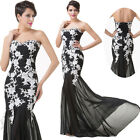 Mermaid Maxi Dress Masquerade Bridesmaid Formal Evening Ball Gown PARTY Dresses
