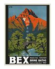 Bex Brine Baths - Vintage Swiss Travel Poster