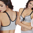 Comfy Leisure Front Fastening Closure Racer Back Underwired Push Up Sports Bra