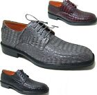 Ferro Aldo Men's Alligator Oxfords Dress Shoes Lace Up RUNS BIG + Free Shoe Horn