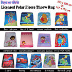 Choose Your Design - Girls Boys Children Licensed Popular Theme Throw Rug