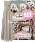 BNWT EDEN Mink Latte Chiffon Corsage Prom Evening Bridesmaid Dress UK 8 - 18
