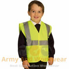 Kids School Hi Viz EN 1150 Road Safety Vest Waistcoat Childrens Travel Trips NEW