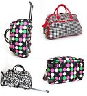 "21"" Rolling Duffle Bag Carry on Luggage Skate Wheels Gym Travel Tote Shoulder NW"