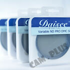 Daisee VARIABLE ND PRO DMC SLIM Filter 49mm 52mm 58mm 62mm 67mm 72mm 77mm 82mm