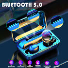 Bluetooth 5.0 Earbuds TWS Wireless Headphone Noise Cancelling Touch Headset 2020