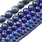 "Natural Blue Lapis Round Beads 15"" 4,6,8,10,12,18mm pick your size"