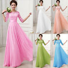 Vintage 50s Lace Dresses Bridesmaid Gown Ball Party Evening Long Dress Plus Size