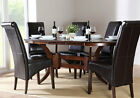 Dark Townhouse & Boston Oval Extending Dining Table and 4 6 Chairs Set (Black)
