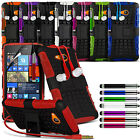 Shockproof Dual Layer Heavy Duty Case Cover Stand Earphone For Various Phones