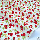per 1/2 metre/FQ strawberry fair dressmaking/craft fabric 100% COTTON