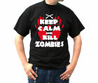 15-145 Shirt Tee S-5XL weiss white Gothic Knarre Keep Calm and Kill Zombies