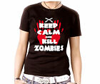 15-147 Damen Tee o. Top schwarz Gothic Knarre Keep Calm and Kill Zombies