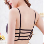 Sexy Women Padded Bra Crop Tops Vest Tank Cut Out Bustier Bandage Strap Blouse