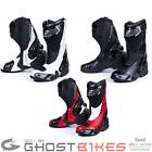 BLACK VENOM RACING SPORTS TRACK SUMMER MOTORCYCLE  MOTORBIKE BOOTS SLIGHT 2NDS