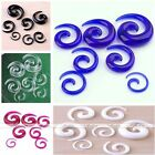 Acrylic Snail Spiral Hook Taper Ear Plug Flesh Expander Stretcher Earrings Gauge