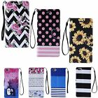 For Apple iPhone 7 6S 6 Plus CANVAS WALLET PU LEATHER FLIP STAND COVER CASE