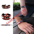 Brand New NFL All Teams Classic Genuine Football Leather Bracelet by Gameware $9.49 USD on eBay
