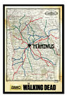 Framed The Walking Dead Terminus Map Poster New