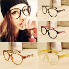Multi Fashion Retro Womens Mens Lensless Big Frame Round Glasses Unisex Eyewear