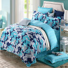 Blue Camouflage Single/Double/Queen/King Bed Quilt/Doona/Duvet Cover 100% Cotton