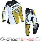Wulf Crossfire Adult Motocross Kit Yellow Armour Strech Panels Suit Buckles Race